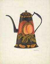 Toleware Coffee Pot, 1935/1942. Creator: John Hall.