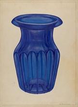 Blue Glass, 1935/1942. Creator: Nicholas Amantea.