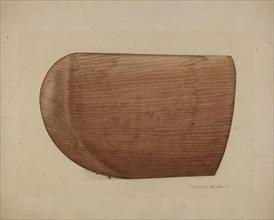 Shaker Wooden Bonnet Mold, 1935/1942. Creator: Charles Goodwin.