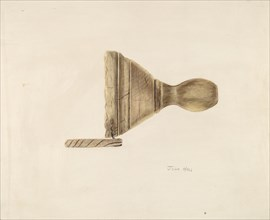 Butter Mold, 1935/1942. Creator: John Hall.