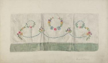 Towel, 1935/1942. Creator: John Hall.