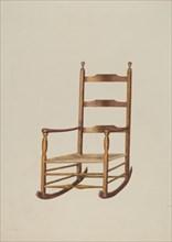 Rocking Chair, 1935/1942. Creator: Maud M Holme.