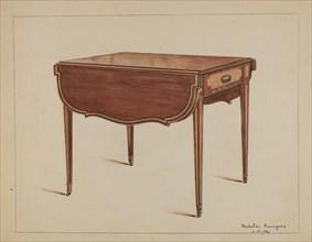 Table (Drop-leaf), 1936. Creator: Nicholas Acampora.