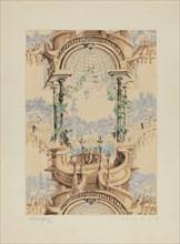 Wall Paper, 1937. Creator: Nicholas Acampora.