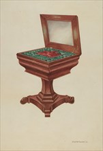 Sewing Table, 1938. Creator: Charles Goodwin.