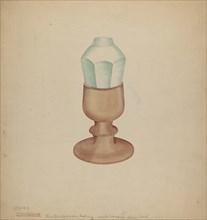 Shaker Grease Lamp, 1941. Creator: Charles Goodwin.