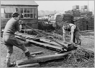 Coryton Oil Refinery, Thurrock, Essex, 10/04/1952. Creator: John Laing plc.