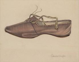 Slipper, c. 1937. Creator: Grace Halpin.