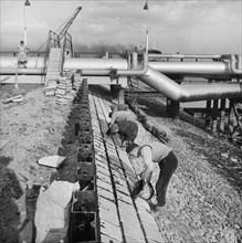 Coryton Oil Refinery, Thurrock, Essex, 27/03/1954. Creator: John Laing plc.