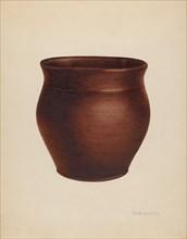 Pot, c. 1938. Creator: Nicholas Amantea.
