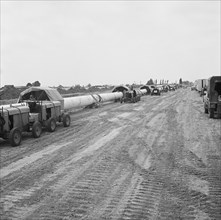 A view of the Fens gas pipeline, Norfolk, 24/07/1967. Creator: John Laing plc.