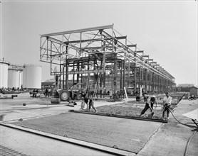 Coryton Oil Refinery; Mobil Bulk Terminal, Thurrock, Thurrock, 13/10/1969. Creator: John Laing plc.