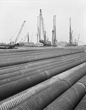 Grain Power Station, Grain, Isle of Grain, Medway, 25/10/1971. Creator: John Laing plc.