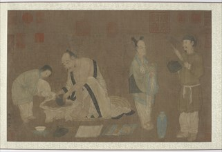 Scholar and attendants, Ming dynasty, 1368-1644. Creator: Unknown.