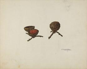 Pair of Pin Cushions, c. 1939. Creator: Nicholas Acampora.