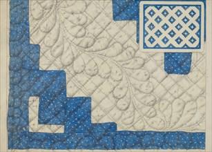 Pieced Quilt, c. 1936. Creator: Maud M Holme.