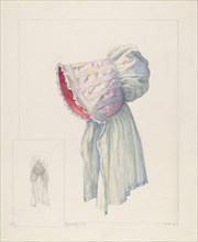 Baby Bonnet, c. 1937. Creator: Maud M Holme.