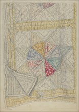 "Pieced Quilt - ""Star Pattern"", c. 1938. Creator: Maud M Holme."