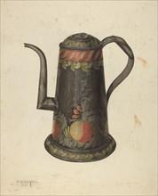 Toleware Coffee Pot, c. 1938. Creator: Nicholas Acampora.