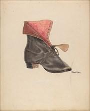 Woman's Shoe, c. 1938. Creator: John Hall.