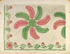 Quilt Applique Pattern, c. 1939. Creator: Maud M Holme.