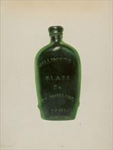 Glass Bottle, c. 1939. Creator: Maud M Holme.