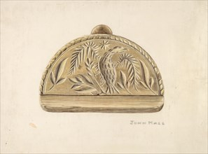 Butter Mold, c. 1939. Creator: John Hall.