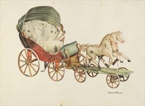 Calash and Horses, c. 1940. Creator: John Hall.