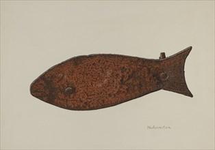 Pa. German Axe Socket, c. 1940. Creator: Nicholas Amantea.