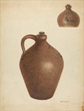 Stoneware Jug, c. 1940. Creator: Nicholas Amantea.