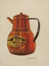 Toleware Teapot, c. 1941. Creator: John Hall.