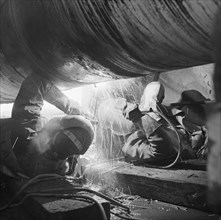 Rugby gas pipeline, Warwickshire, late 1968 - early 1969. Creator: John Laing plc.