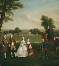 Thomas Lister and Family at Gisburne Park, 1740/41. Creator: Arthur Devis.