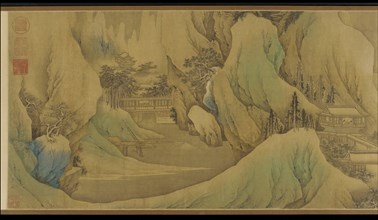 Traveling at Dawn in the Snowy Foothills, Qing dynasty, 17th century. Creator: Fan Qi.