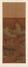 Palaces on the Shore of a Lake, Ming or Qing dynasty, 18th century. Creators: Unknown, Wen Zhengming.