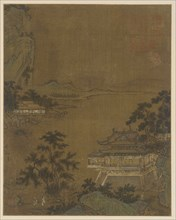 Scholar Arriving at a Riverside Pavilion, Ming dynasty, 15th century. Creator: Unknown.