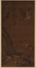 Willow, Geese, and Kingfisher, Ming dynasty, (16th century?). Creator: Unknown.