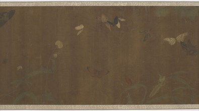 Flowers, butterflies and other insects, Ming dynasty, 1368-1644. Creator: Unknown.