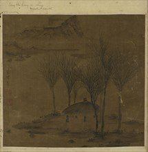 Pavilion in a grove by the water, Ming dynasty, 17th century. Creator: Unknown.