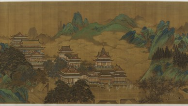 The Peach Festival of the Queen Mother of the West, Ming or Qing dynasty, 17th-18th century. Creator: Unknown.