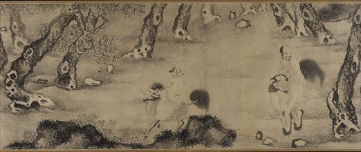 Luohans Moving Through Forests and Sea, Ming dynasty, 16th-17th century. Creator: Unknown.