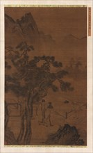 An Afternoon Visit near Tall Pines, Ming dynasty, 16th century. Creator: Unknown.