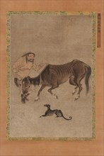 A Tartar, a lean horse, and a dog, Ming dynasty, 1368-1644. Creator: Unknown.