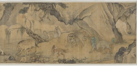 Bestiary of real and imaginary animals, Ming dynasty, 1368-1644. Creator: Unknown.