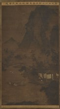 Returning Home by Boat in the Autumn Mountains, Ming dynasty, 16th century. Creator: Unknown.