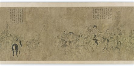The captivity of Cai Wenji, Ming dynasty, 14th-15th century. Creator: Unknown.