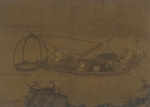 Fishermen Raising a Net, Ming dynasty, 16th-17th century. Creator: Unknown.