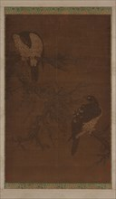 Two Hawks on a Withered Bough, Ming dynasty, 16th century. Creator: Unknown.