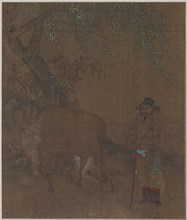 Horse and Groom under a Willow, Possibly Ming dynasty, 1368-1644. Creator: Unknown.