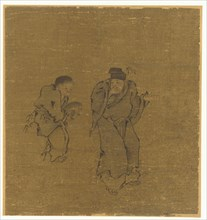 Two Male Figures With a Toad, Ming or Qing dynasty, 17th century. Creator: Unknown.